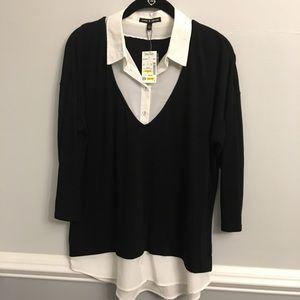 Cable and Gauge Shirt Blouse Top